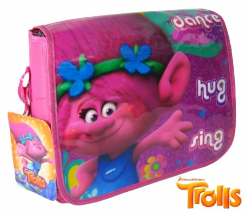 "Official Trolls ""Poppy"" Character Messenger Shoulder Bag ""Perfect For School"""